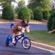 Единственная в мире собака, которая катается на велосипеде