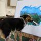 Джампи нарисовал пейзаж