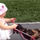 Внучка приехала погостить. Кот убежал, а вот собака не успела!