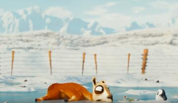 Короткий, но прикольный мультфильм про ламу и пингвиненка