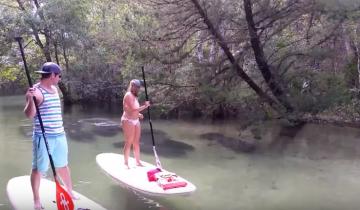 Они спокойно плыли по реке, как вдруг увидели это…