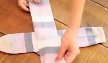 Наука складывать носки – смотреть всем хозяйкам!