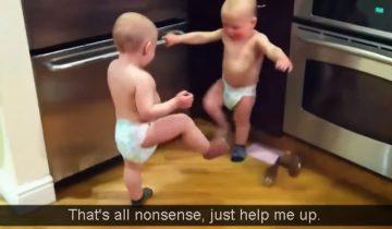 Маленькие детки говорят: интересно, о чем они болтают?