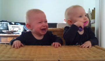 Близняшки не поделят зубную щетку: уровень милоты зашкаливает