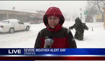 Снежный человек в прямом эфире из Спрингфилда: больше 2 миллионов просмотров