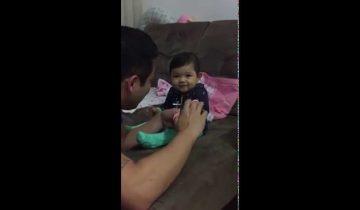 Малышка разыграла своего папу и стала звездой интернета