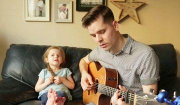 Восхитительная песня четырехлетней Клэр и ее отца
