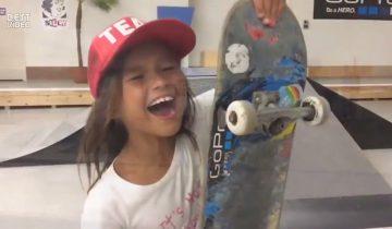 9-летняя скейтбордистка-виртуоз