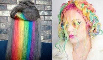 Новый тренд в Инстаграм — волосы в цвета радуги (10 фотографий)