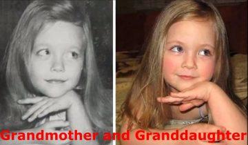 Фотографии детей и родителей в одном и том же возрасте