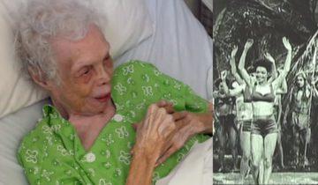 102-летняя женщина-танцовщица впервые увидела фильм о себе