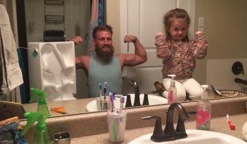 Реакция на новый имидж отца: «Ты выглядишь смешно. Но ты точно мой папа?»