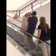 Красавец-ретривер боится ехать на эскалаторе
