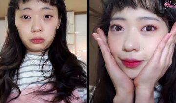 Кореянки с макияжем и без него: найдите отличия