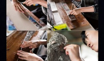 Японская художница создает шедевры из старых газет (10 фото)