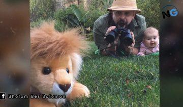 Папа делает оригинальные фото с 9-месячной дочуркой
