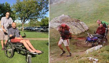 Невероятная история дружбы: 500 миль он тащил друга на инвалидном кресле