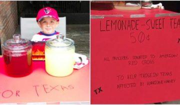 5-летний мальчик собрал 400 долларов пострадавшим от урагана Харви