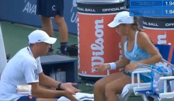Теннисистка из Казахстана набросилась на тренера