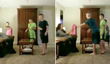 Сыновья отца-одиночки сделали его возлюбленной подарок