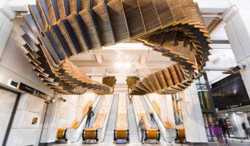 В Сиднее создали инсталляцию из старого эскалатора