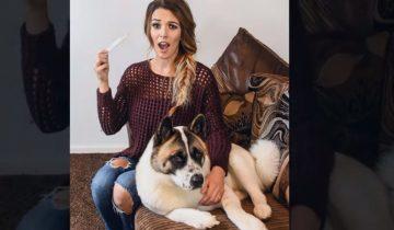 В беременность ей советовали избавиться от собаки. Она не послушалась