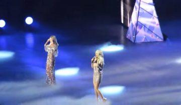 Две экс-участницы «ВИА Гра» вышли вместе на сцену с праздничным хитом