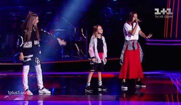 Трио Данелия, Касиния и Кристина покорили зал «Голос. Дети» 4 сезон