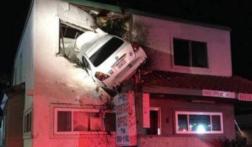 Кадр из экшена или реальность: авто влетело во 2 этаж поликлиники