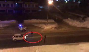 Полиция в Южно-Сахалинске пыталась остановить угонщика… снежками