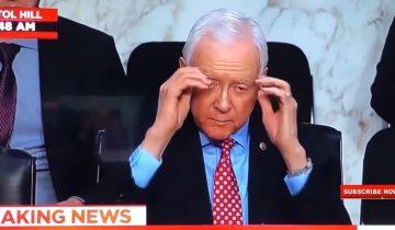 Американский сенатор в «невидимых очках» повеселил публику