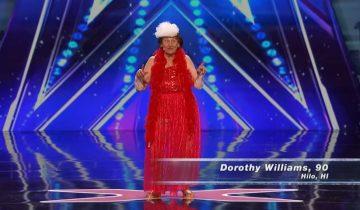 В свои 90 леди вышла на большую сцену, чтобы шокировать жюри