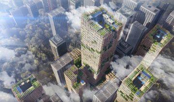 К 2041 году в Токио вырастет деревянный небоскреб