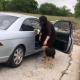 Женщина приехала на окраину, чтобы выбросить там четырех своих собак