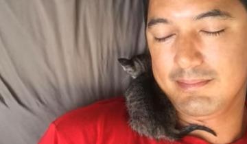 Мужчина не любил кошек, пока теплый комочек не отогрел его сердце