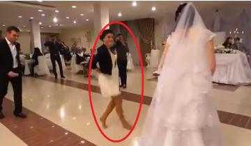 Девушка стала звездой интернета, станцевав лезгинку на свадьбе подруги