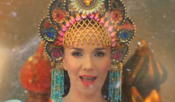Наталия Орейро спела на русском и станцевала в кокошнике