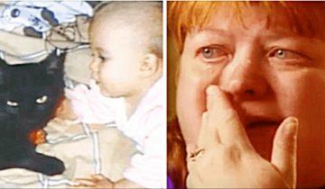 Женщина услышала громкие крики из детской…рядом 1,5-месячной крохой сидела кошка…