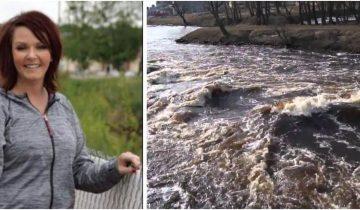 Женщина выловила из бурлящего потока воды коляску с 2-летним малышом