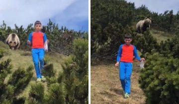 12-летний мальчик столкнулся с медведем и действовал как по учебнику. Но смотреть на это все равно жутко
